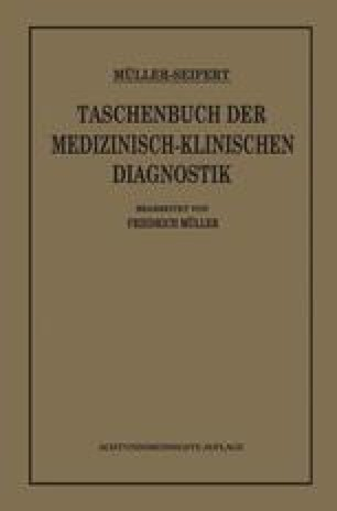 Taschenbuch der Medizinisch Klinischen Diagnostik