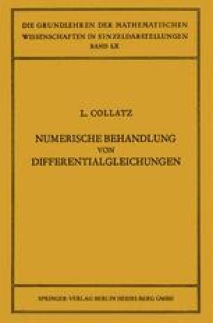 Numerische Behandlung von Differentialgleichungen