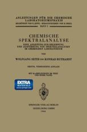 Chemische Spektralanalyse