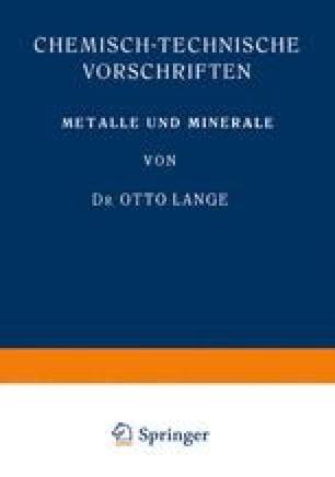 Metalle und Minerale