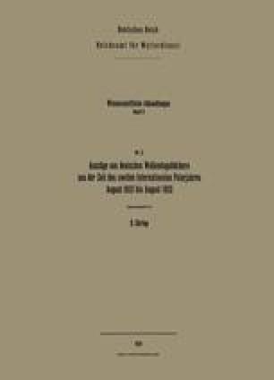 Auszüge aus deutschen Wolkentagebüchern aus der Zeit des zweiten Internationalen Polarjahres, August 1932 bis August 1933