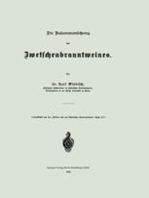 Die Zusammensetzung des Zwetschenbranntweines