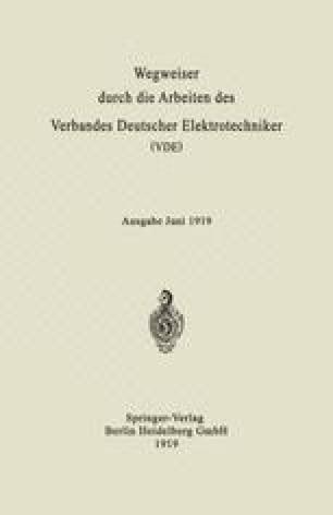 Wegweiser durch die Arbeiten des Verbandes Deutscher Elektrotechniker (VDE)