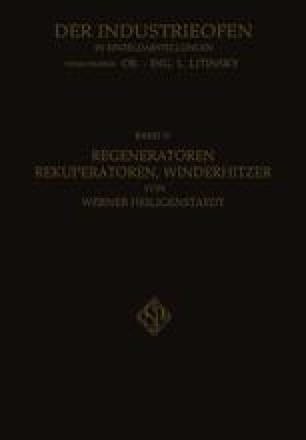 Regeneratoren Rekuperatoren, Winderhitzer