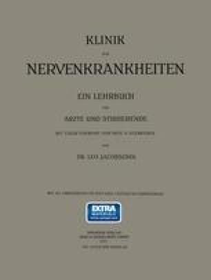 Klinik der Nervenkrankheiten