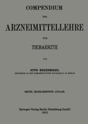 Compendium der Arzneimittellehre für Tieraerzte