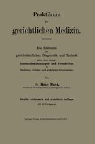 Praktikum der gerichtlichen Medizin