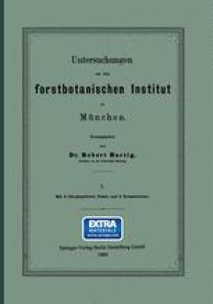 Untersuchungen aus dem forstbotanischen Institut zu München