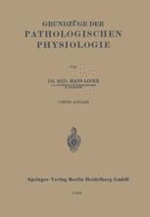 Grundzüge der Pathologischen Physiologie