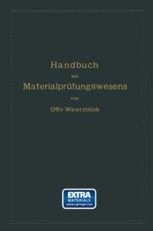Handbuch des Materialprüfungswesens für Maschinen- und Bauingenieure