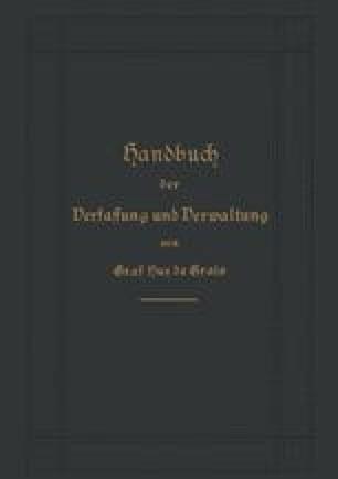 Handbuch der Verfassung und Verwaltung in Preußen und dem Deutschen Reiche