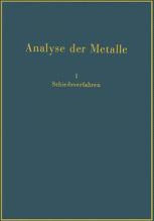 Analyse der Metalle