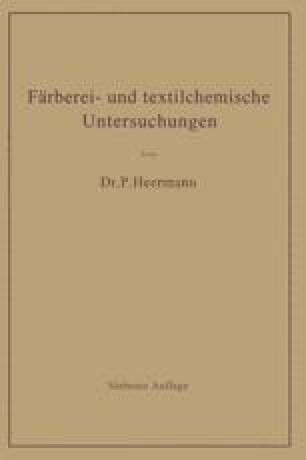 Färberei- und textilchemische Untersuchungen