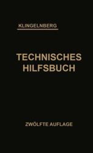 Klingelnberg Technisches Hilfsbuch