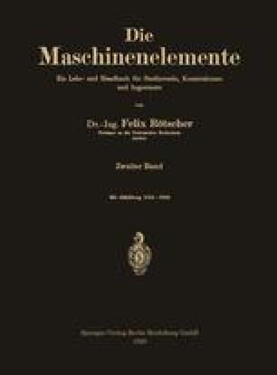 Die Maschinenelemente