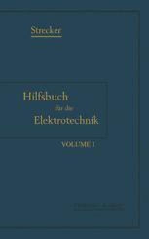 Hilfsbuch für die Elektrotechnik