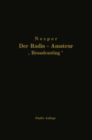 "Der Radio-Amateur ""Broadcasting"""