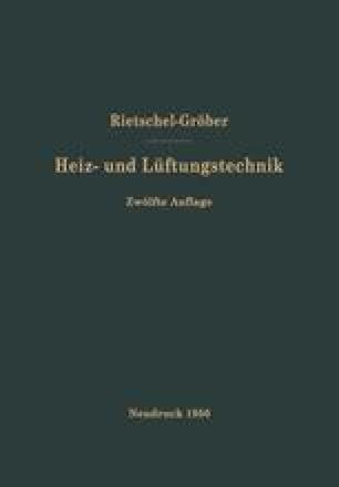 H. Rietschels Lehrbuch der Heiz- und Lüftungstechnik