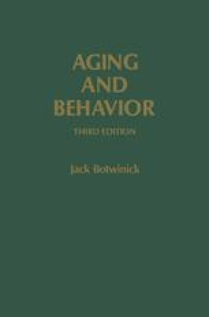 Aging and Behavior