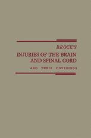 Brock's Injuries of the Brain and Spinal Cord and Their Coverings