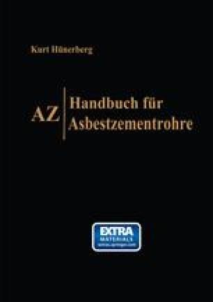 AZ, Handbuch für Asbestzementrohre