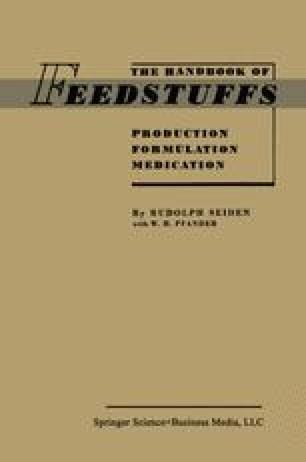 The Handbook of Feedstuffs