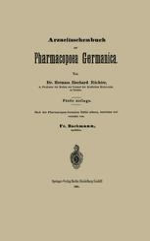 Arzneitaschenbuch zur Pharmacopoea Germanica