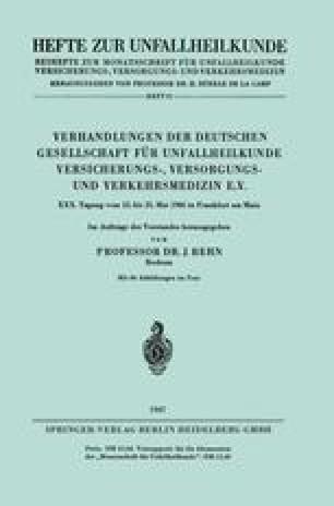 Verhandlungen der Deutschen Gesellschaft für Unfallheilkunde Versicherungs-, Versorgungs- und Verkehrsmedizin e.V.