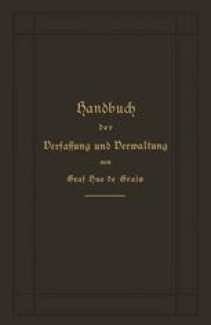 Handbuch der Verfassung und Verwaltung in Preußen und dem Deutschen Reich