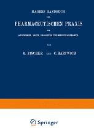 Hagers Handbuch der Pharmaceutischen Praxis