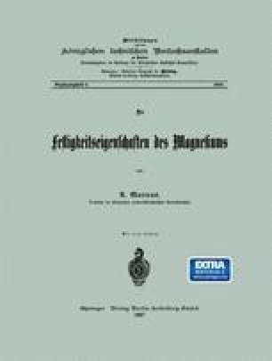 Die Festigkeitseigenschaften des Magnesiums