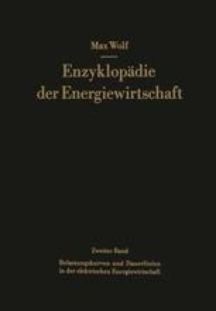 Belastungskurven und Dauerlinien in der elektrischen Energiewirtschaft