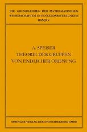Die Theorie der Gruppen von Endlicher Ordnung