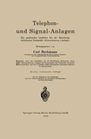 Telephon- und Signal-Anlagen
