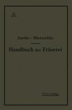 Handbuch der Fräserei