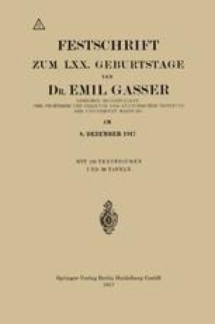 Festschrift Zum LXX. Geburtstage