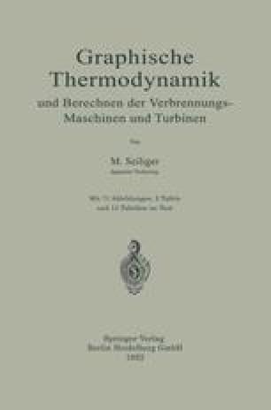 Graphische Thermodynamik und Berechnen der Verbrennungs-Maschinen und Turbinen