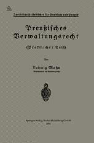 Preußisches Verwaltungsrecht