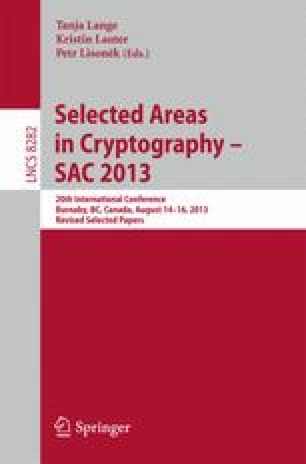 Selected Areas in Cryptography -- SAC 2013