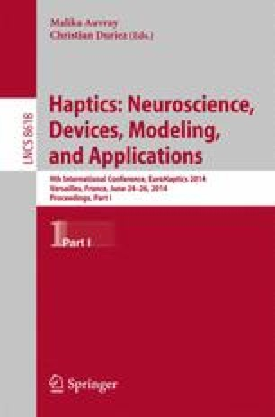 Haptics: Neuroscience, Devices, Modeling, and Applications