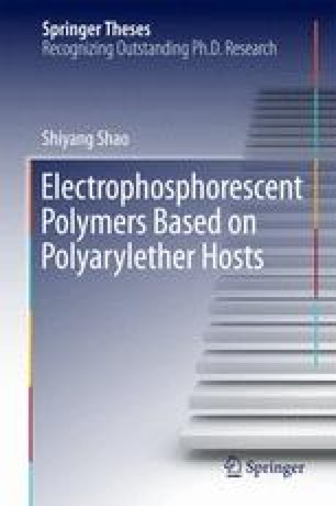 Electrophosphorescent Polymers Based on Polyarylether Hosts