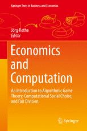 Economics And Computation Springerlink