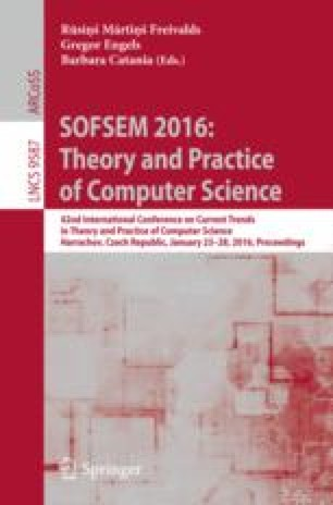 SOFSEM 2016: Theory and Practice of Computer Science