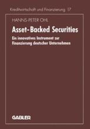 Charakteristika und Gestaltung von Asset-Backed Finanzierungen ...