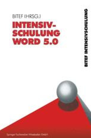 Intensivschulung Word 5.0