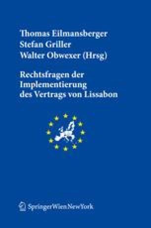 Die Umsetzung Der Gemeinsamen Handelspolitik Nach Dem Vertrag Von