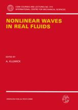 Nonlinear Waves in Real Fluids