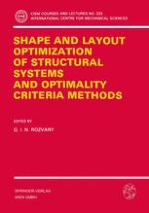 Shape and Layout Optimization of Structural Systems and Optimality Criteria Methods