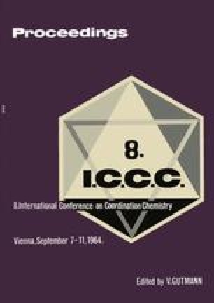 Proceedings of the 8th International Conference on Coordination Chemistry