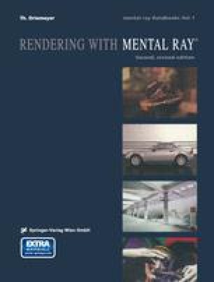 Rendering with mental ray®